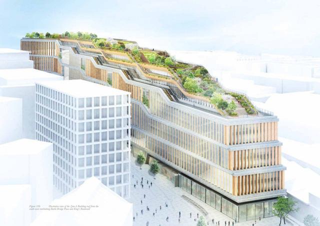 Lộ hình ảnh trụ sở mới đẹp như mơ của Google tại London - Ảnh 1.
