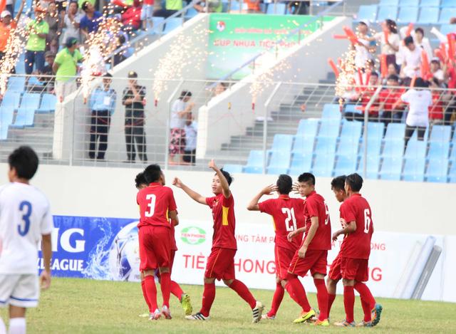 Ảnh: Những khoảnh khắc trận U15 Việt Nam thắng 5-2 U15 Đài Bắc Trung Hoa - Ảnh 11.