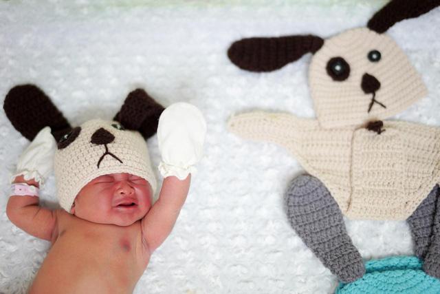 Bé sơ sinh mặc đồ cún con chào đón năm mới cực đáng yêu - Ảnh 4.