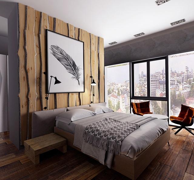 Những gợi ý cho phòng ngủ vừa sang trọng vừa hiện đại với nội thất bằng gỗ - Ảnh 9.
