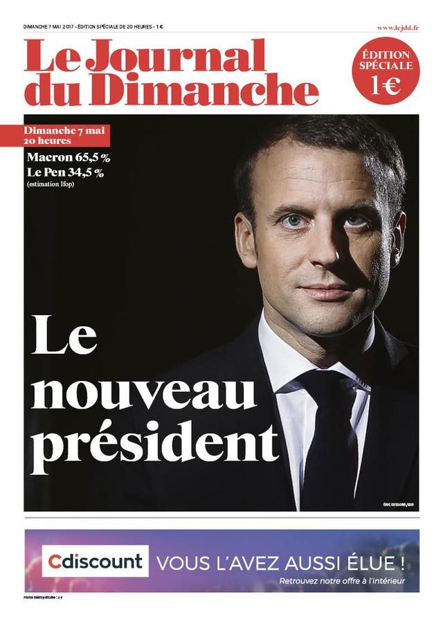 Chiến thắng của tân Tổng thống Pháp tràn ngập trang nhất báo chí châu Âu - Ảnh 1.