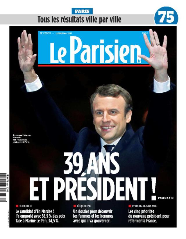 Chiến thắng của tân Tổng thống Pháp tràn ngập trang nhất báo chí châu Âu - Ảnh 3.