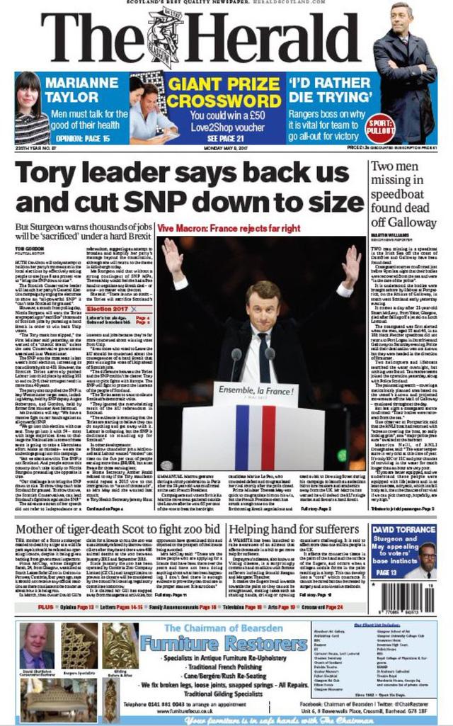 Chiến thắng của tân Tổng thống Pháp tràn ngập trang nhất báo chí châu Âu - Ảnh 5.