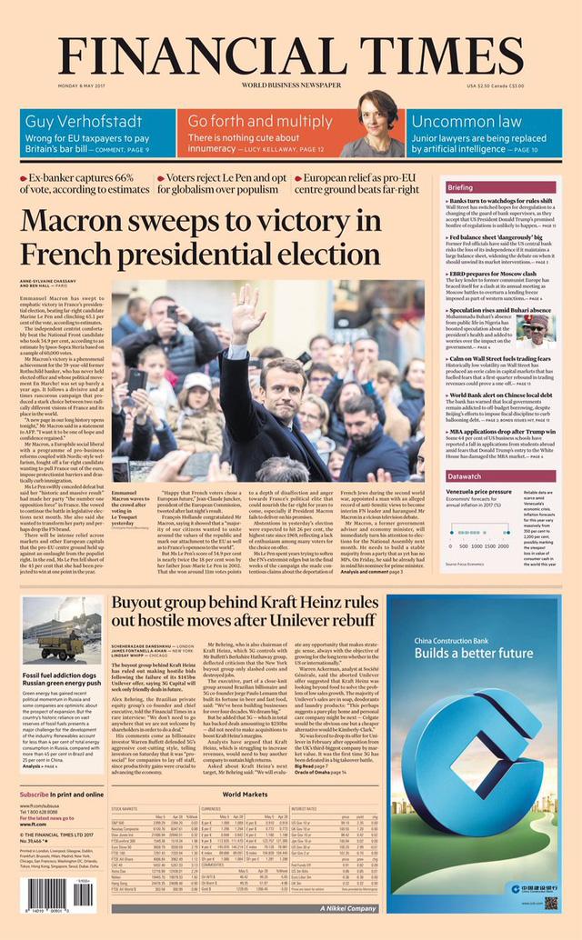 Chiến thắng của tân Tổng thống Pháp tràn ngập trang nhất báo chí châu Âu - Ảnh 11.
