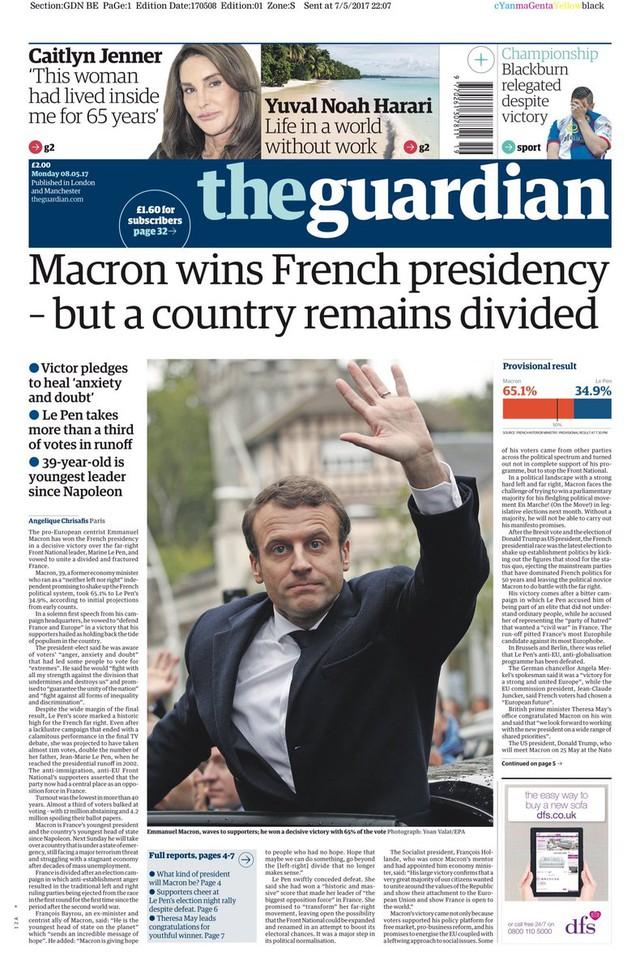 Chiến thắng của tân Tổng thống Pháp tràn ngập trang nhất báo chí châu Âu - Ảnh 12.