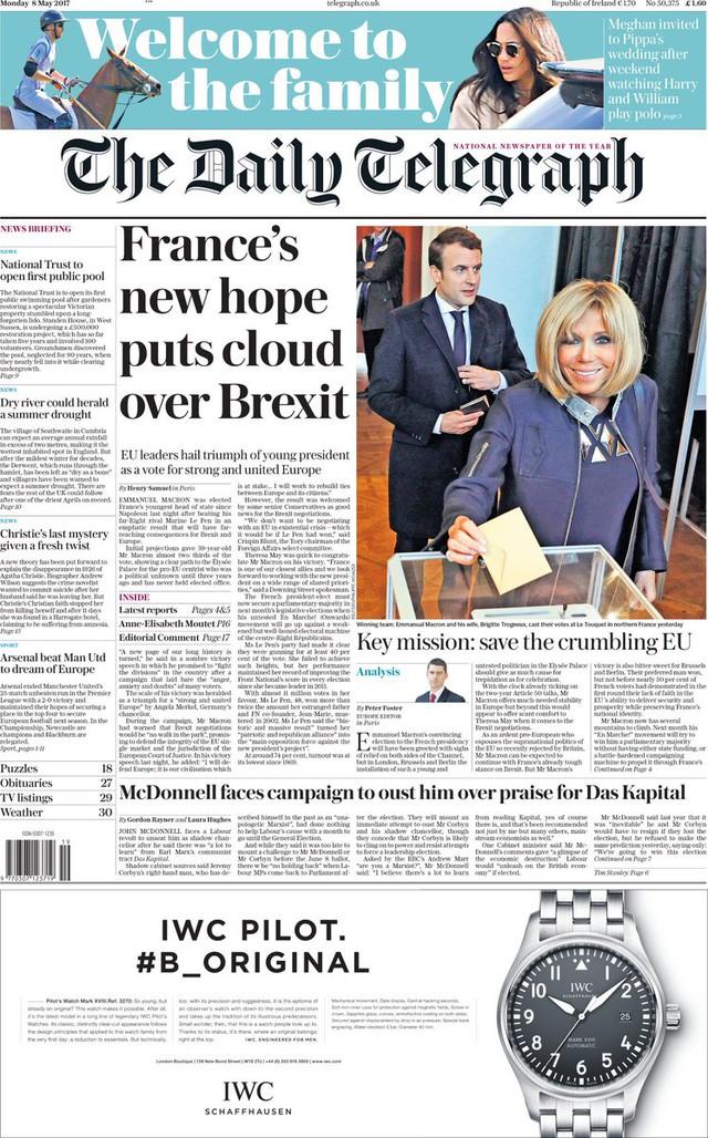 Chiến thắng của tân Tổng thống Pháp tràn ngập trang nhất báo chí châu Âu - Ảnh 7.