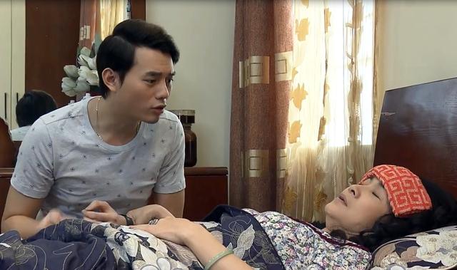 Sống chung với mẹ chồng - Tập 7: Bà Phương (NSND Lan Hương) giả ốm giả đau để giành giật con trai - Ảnh 1.