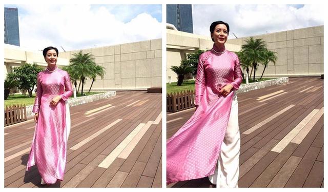 Cùng NSƯT Chiều Xuân chọn áo dài trong ngày cưới của con - Ảnh 1.
