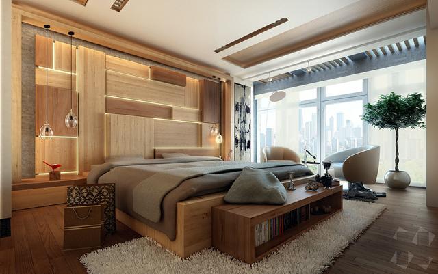 Những gợi ý cho phòng ngủ vừa sang trọng vừa hiện đại với nội thất bằng gỗ - Ảnh 8.