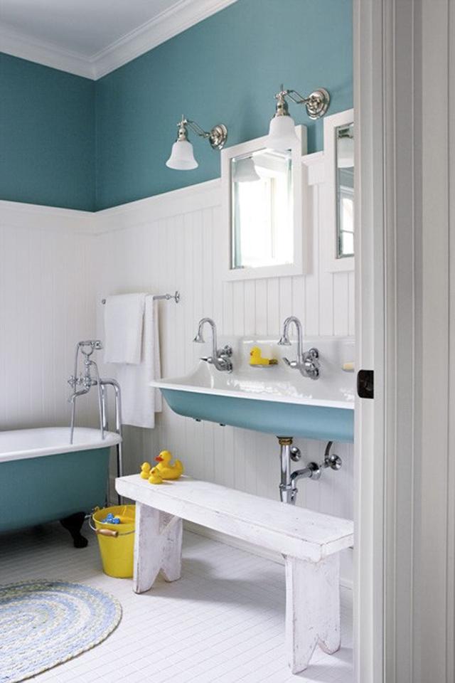 Thích thú với những mẫu phòng tắm ngập sắc màu - Ảnh 5.