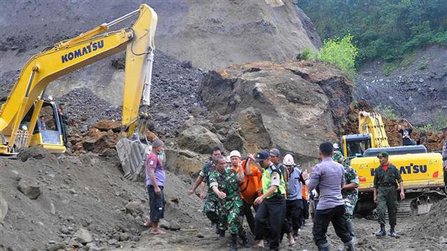 Indonesia: Lở đất trên sườn núi lửa, ít nhất 8 người thiệt mạng - Ảnh 1.