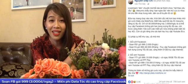 Livestream bằng 4G MobiFone, MC Diệp Chi tự tin cover loạt ca khúc hot - Ảnh 2.