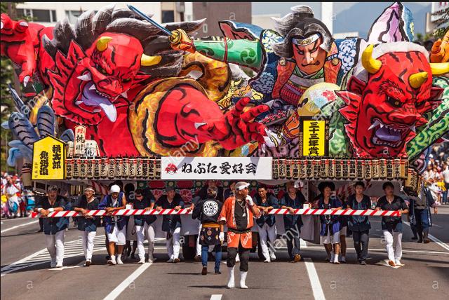 Lễ hội đèn lồng khổng lồ ở Nhật Bản - Ảnh 3.
