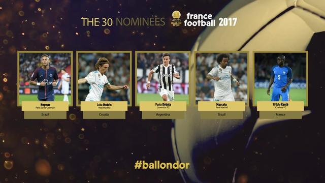 Neymar, Kante nằm trong nhóm ứng cử viên đầu tiên của Quả bóng Vàng 2017 - Ảnh 1.