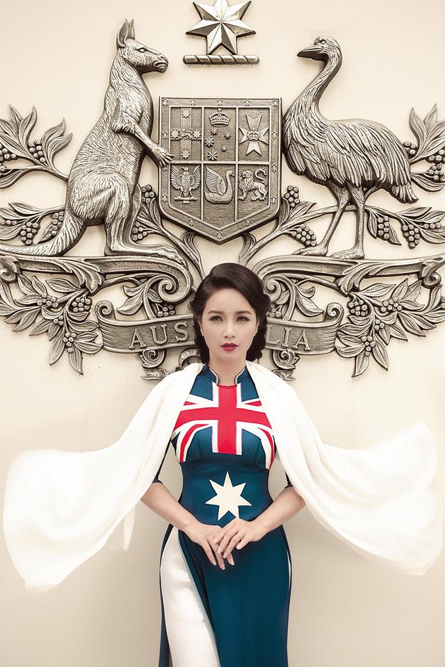 NTK Đỗ Trịnh Hoài Nam mang nón lá dát vàng quảng bá áo dài tại Australia - Ảnh 2.