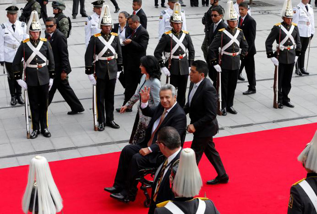Tổng thống đắc cử Ecuador nhậm chức - Ảnh 1.