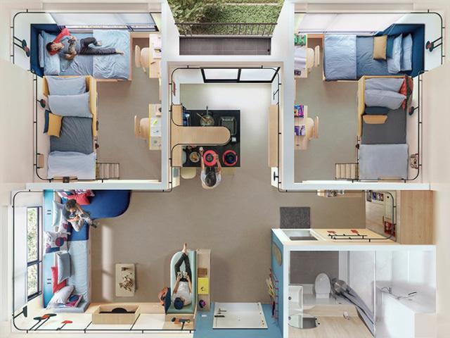 Đây chính là ý tưởng tuyệt vời cho không gian sống chung của sinh viên - Ảnh 10.