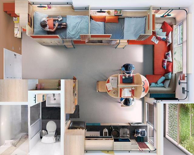 Đây chính là ý tưởng tuyệt vời cho không gian sống chung của sinh viên - Ảnh 9.