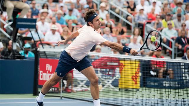 Rogers Cup 2017: Vượt qua David Ferrer, Roger Federer giành quyền vào tứ kết - Ảnh 2.
