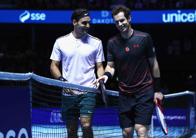 ẢNH: Ngộ nghĩnh Roger Federer mặc váy đối đầu với Andy Murray - Ảnh 11.
