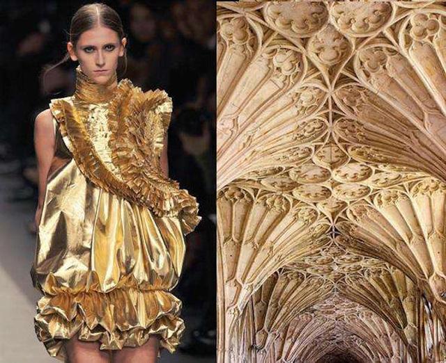 Những thiết kế thời trang siêu độc được thổi hồn từ kiến trúc - Ảnh 8.