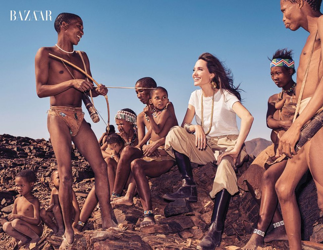 Angelina Jolie vẫn đầy quyền lực, uống trà cạnh hổ báo  - Ảnh 1.