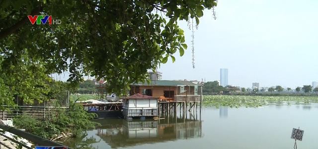 Hà Nội: Biệt thự, nhà hàng mọc trái phép ở hồ Đầm Trị - Ảnh 1.