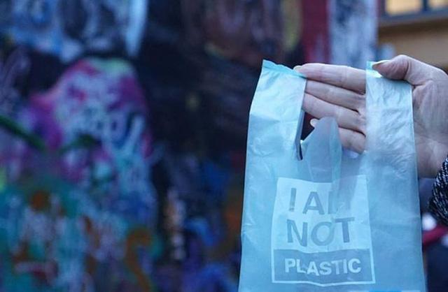 Túi làm từ khoai mì thay thế bịch nilon ở Indonesia - Ảnh 2.