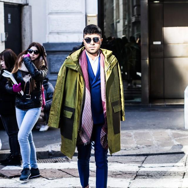 Mê hoặc thời trang thanh lịch trên đường phố Milan - Ảnh 14.