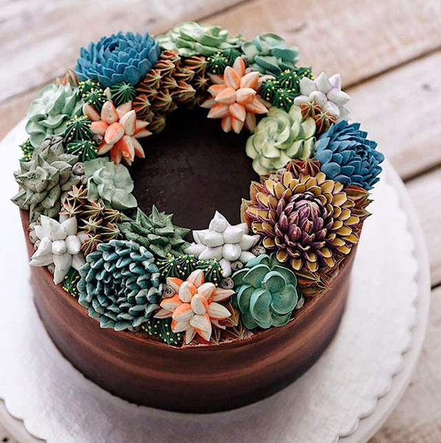 Kỳ công những góc vườn nhỏ xinh trên bánh ngọt - Ảnh 11.