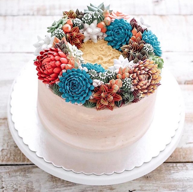 Kỳ công những góc vườn nhỏ xinh trên bánh ngọt - Ảnh 3.