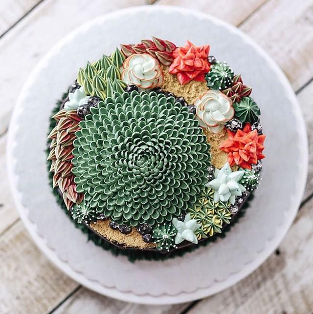 Kỳ công những góc vườn nhỏ xinh trên bánh ngọt - Ảnh 7.