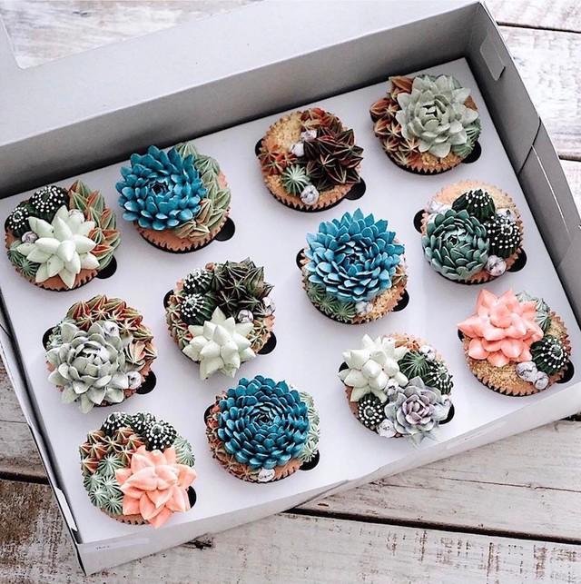 Kỳ công những góc vườn nhỏ xinh trên bánh ngọt - Ảnh 1.