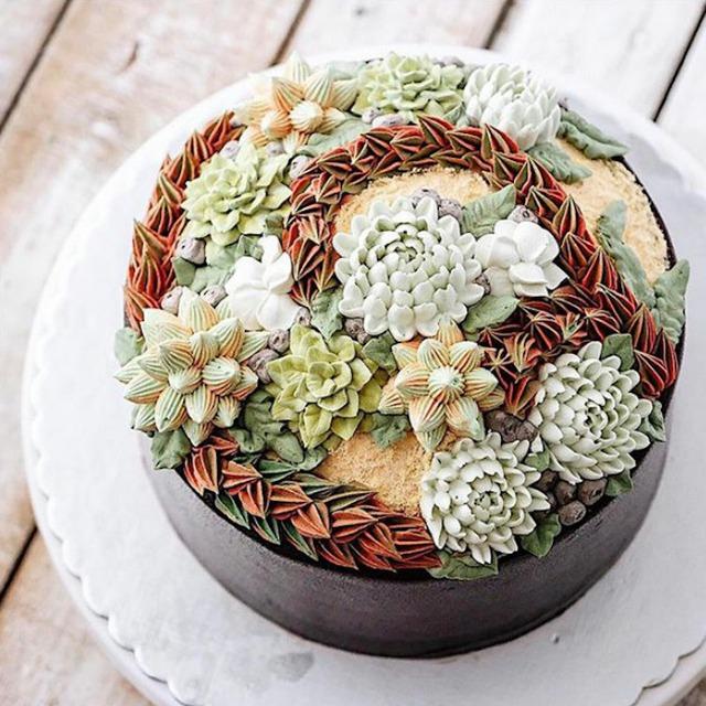 Kỳ công những góc vườn nhỏ xinh trên bánh ngọt - Ảnh 2.