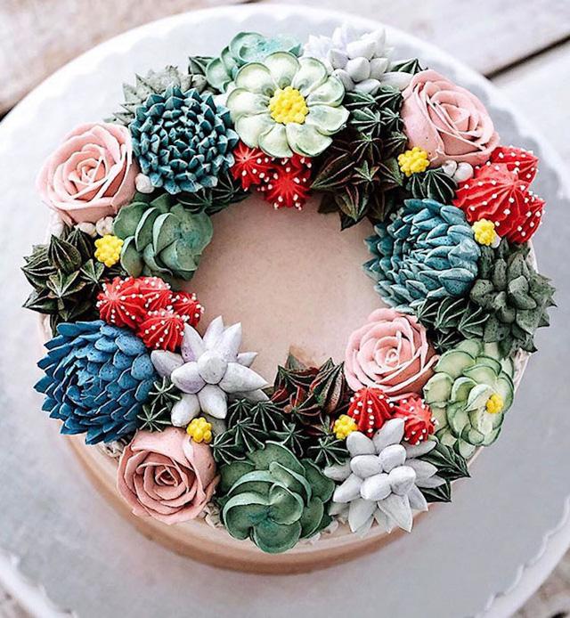 Kỳ công những góc vườn nhỏ xinh trên bánh ngọt - Ảnh 9.