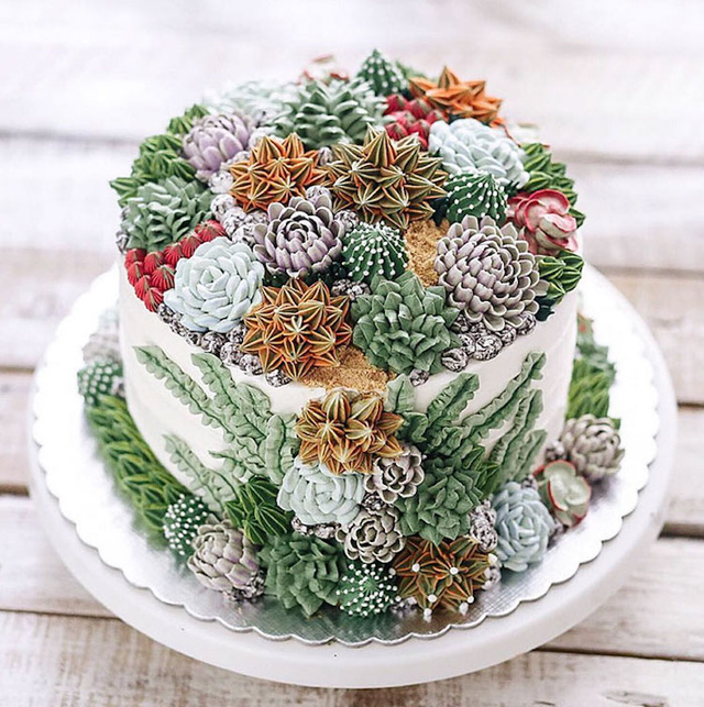 Kỳ công những góc vườn nhỏ xinh trên bánh ngọt - Ảnh 10.