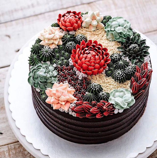 Kỳ công những góc vườn nhỏ xinh trên bánh ngọt - Ảnh 12.