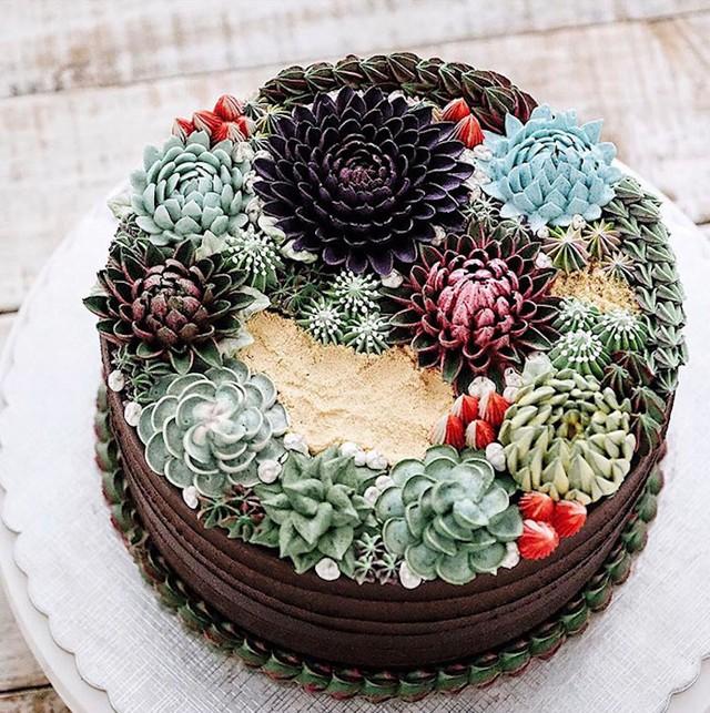 Kỳ công những góc vườn nhỏ xinh trên bánh ngọt - Ảnh 6.
