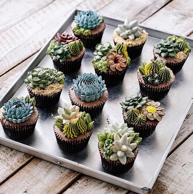 Kỳ công những góc vườn nhỏ xinh trên bánh ngọt - Ảnh 8.