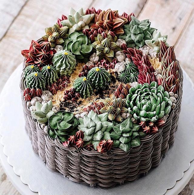 Kỳ công những góc vườn nhỏ xinh trên bánh ngọt - Ảnh 4.