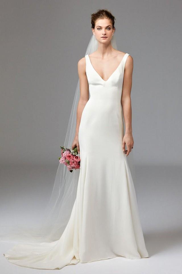 Mê mẩn những mẫu váy cưới vừa đơn giản, vừa sang chảnh - Ảnh 9.