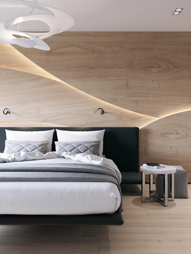 Những gợi ý cho phòng ngủ vừa sang trọng vừa hiện đại với nội thất bằng gỗ - Ảnh 1.