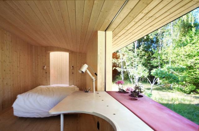 Ngôi nhà độc đáo ở Thụy Điển với khoảng giếng trời lạ mắt - Ảnh 3.