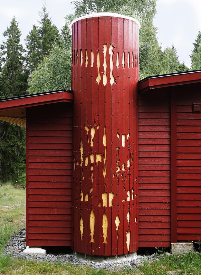 Ngôi nhà độc đáo ở Thụy Điển với khoảng giếng trời lạ mắt - Ảnh 2.