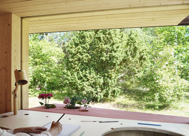 Ngôi nhà độc đáo ở Thụy Điển với khoảng giếng trời lạ mắt - Ảnh 4.