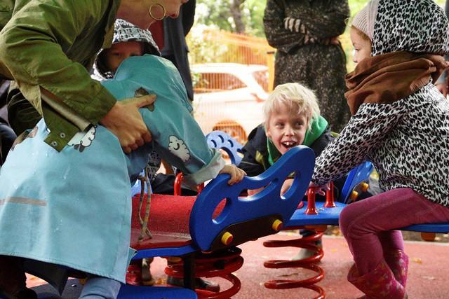 Sân chơi thiết kế đặc biệt cho trẻ khuyết tật - Ảnh 2.