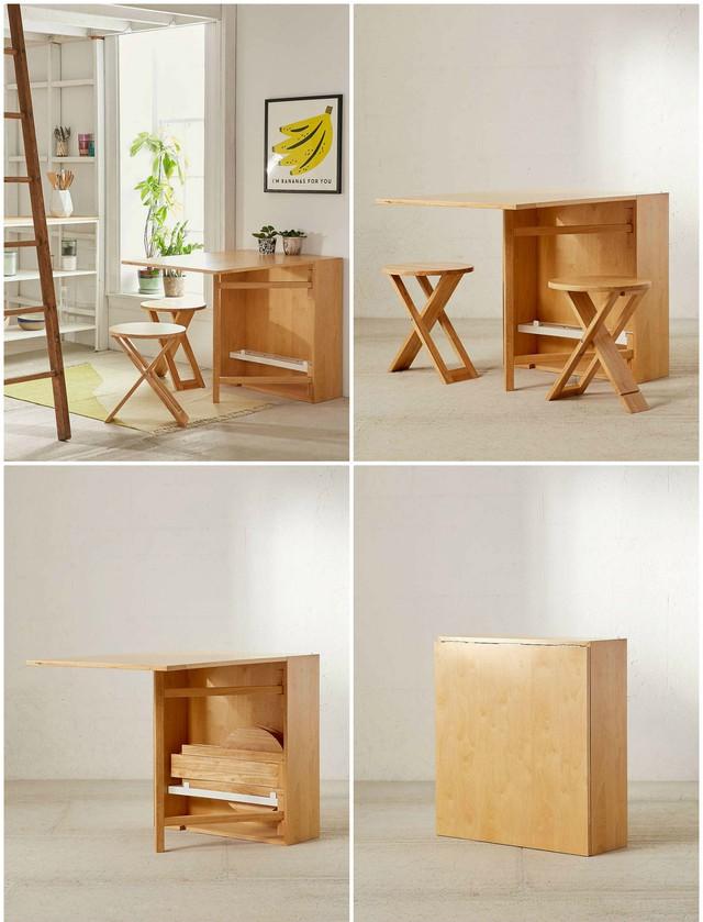 Ý tưởng đưa những bộ bàn ăn độc đáo vào không gian nhỏ hẹp - Ảnh 1.