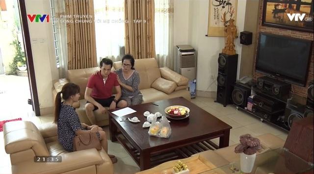 Sống chung với mẹ chồng - Tập 9: Thanh (Anh Dũng) vào hùa với mẹ truy xét Vân (Bảo Thanh) vì có trai lạ gọi điện - ảnh 4