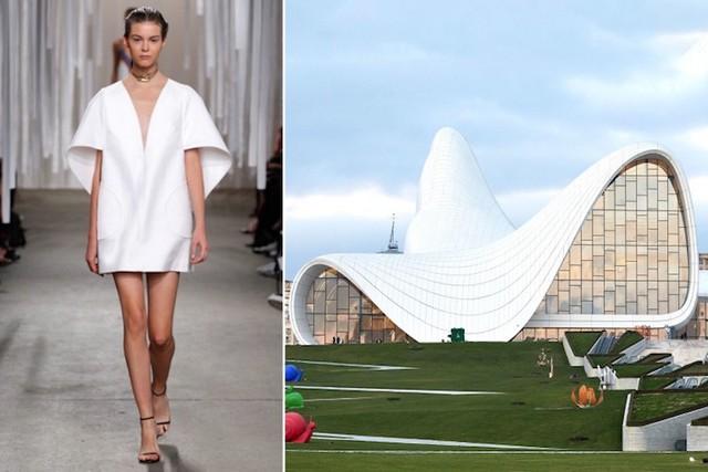 Những thiết kế thời trang siêu độc được thổi hồn từ kiến trúc - Ảnh 14.