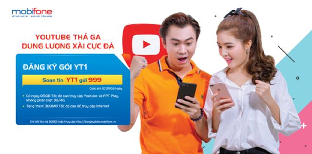 """""""Điểm danh"""" các gói 3G/4G đặc biệt truy cập YouTube của MobiFone - Ảnh 1."""